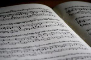 תווים של מוזיקה קלאסית